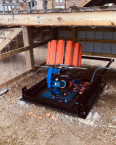 ROLL OUT THROWER MACHINE BASE